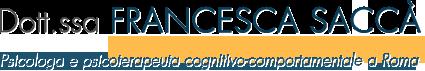 Dott.ssa Francesca Saccà | Psicologa e Psicoterapeuta Roma